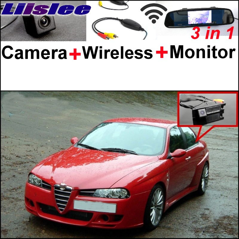 Liislee Wireless Receiver + Mirror Monitor DIY Parking System + 3 in1 Special WiFi Rear View Camera For Alfa Romeo 156 AR
