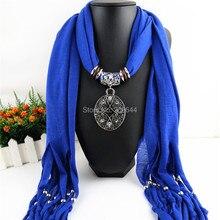 купить New Fashion Round pendant scarf Ms popular refining jewelry scarves Free shipping дешево