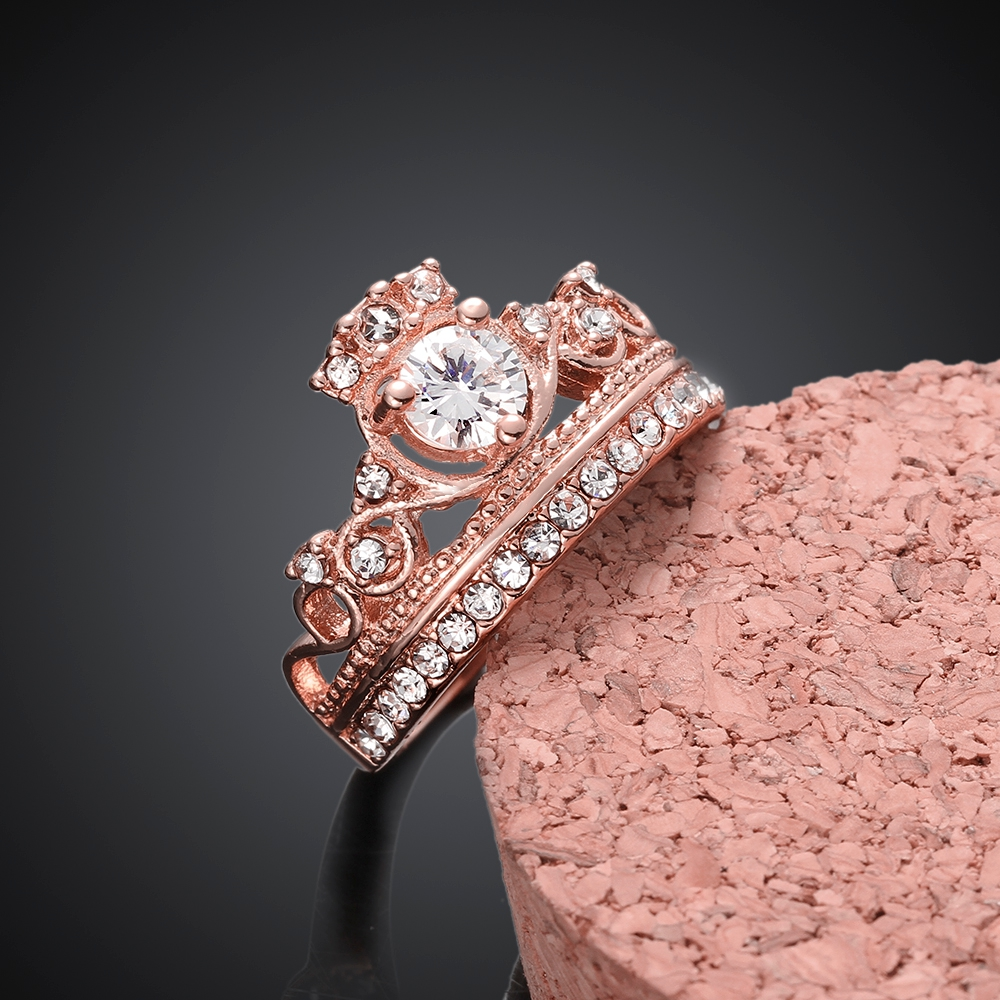 High Quality Gold Rings For Women, Rose Gold Color /Gold Color Crown ...