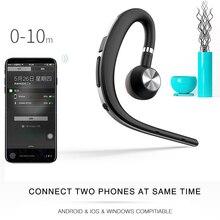цена на Exuanfa Wireless Bluetooth Headphone V4.1 Noise Cancelling HD Mic Music Headphone Handsfree Ear Hook Headphone black earhpone
