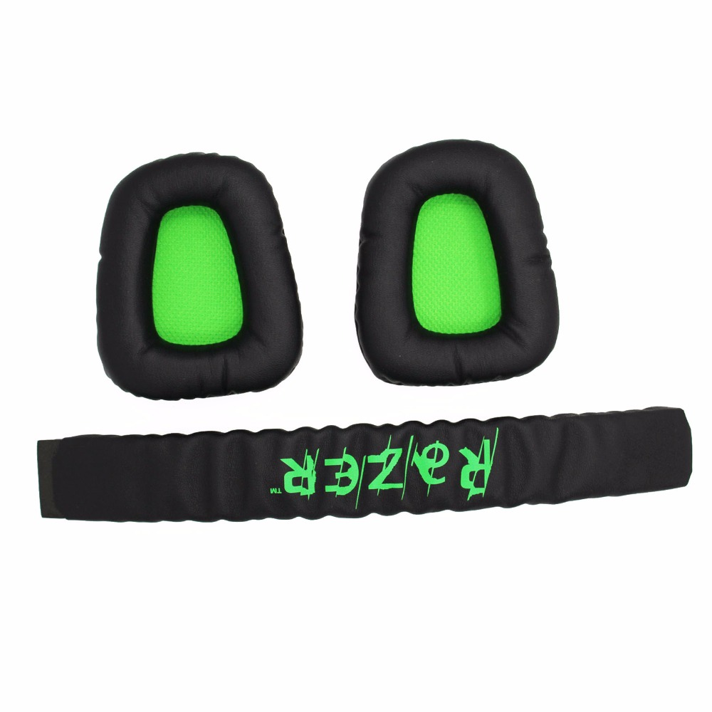 Top Quality Replacement Cushion Ear Pads For Razer Electra Gaming Pc Fs Kraken Pro V2 Black Headband Plastic Head Band Parts 71