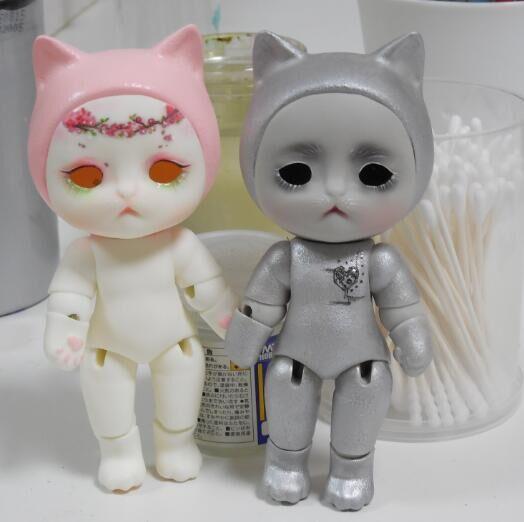 Free shipping 1 8 bjd doll cat