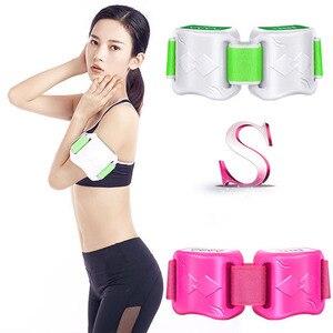Image 2 - 電気痩身ベルトは重量動揺振動フィットネスマッサージ腹部腹筋肉ウエストトレーナー刺激