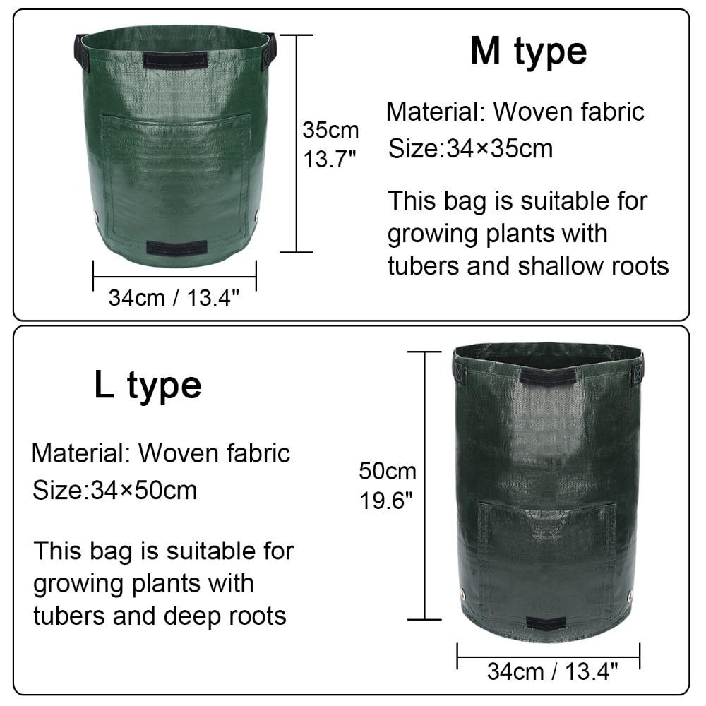 1pc Woven Potato Cultivation Planting Bags Vegetable Garden Growing Bags Pots Planters Farm Home Garden Farm Supplies