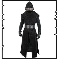 Movie Cosplay Star Wars: The Force Awakens Kylo Ren Jedi Knight Cosplay Costumes Overcoat halloween costumes European size