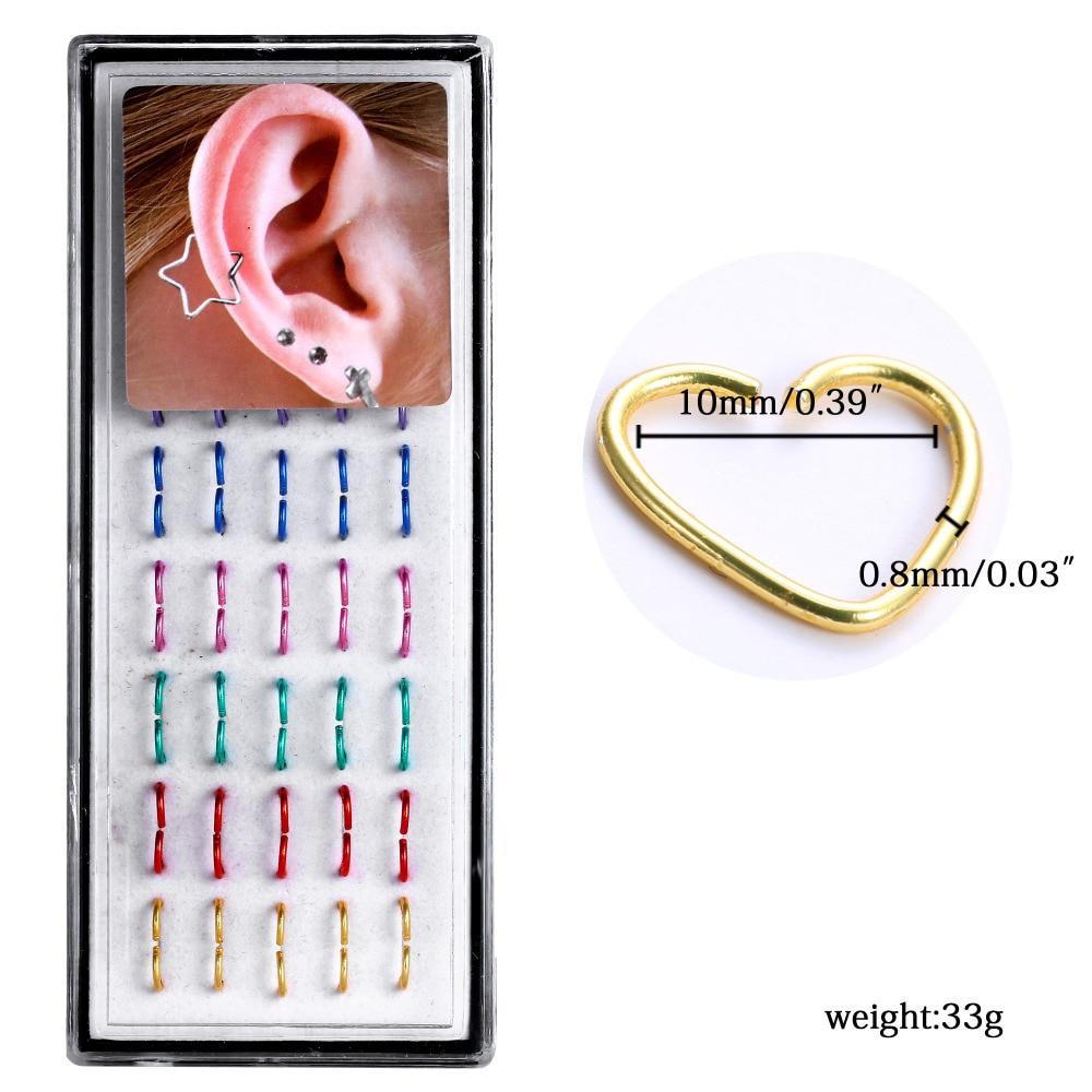 Jewelry amp watches gt fashion jewelry gt body jewelry gt body piercing - 2017 New Clip On Earrings Piercing Stainless Steel Fashion Women Heart Nose Rings Design Ear Piercing