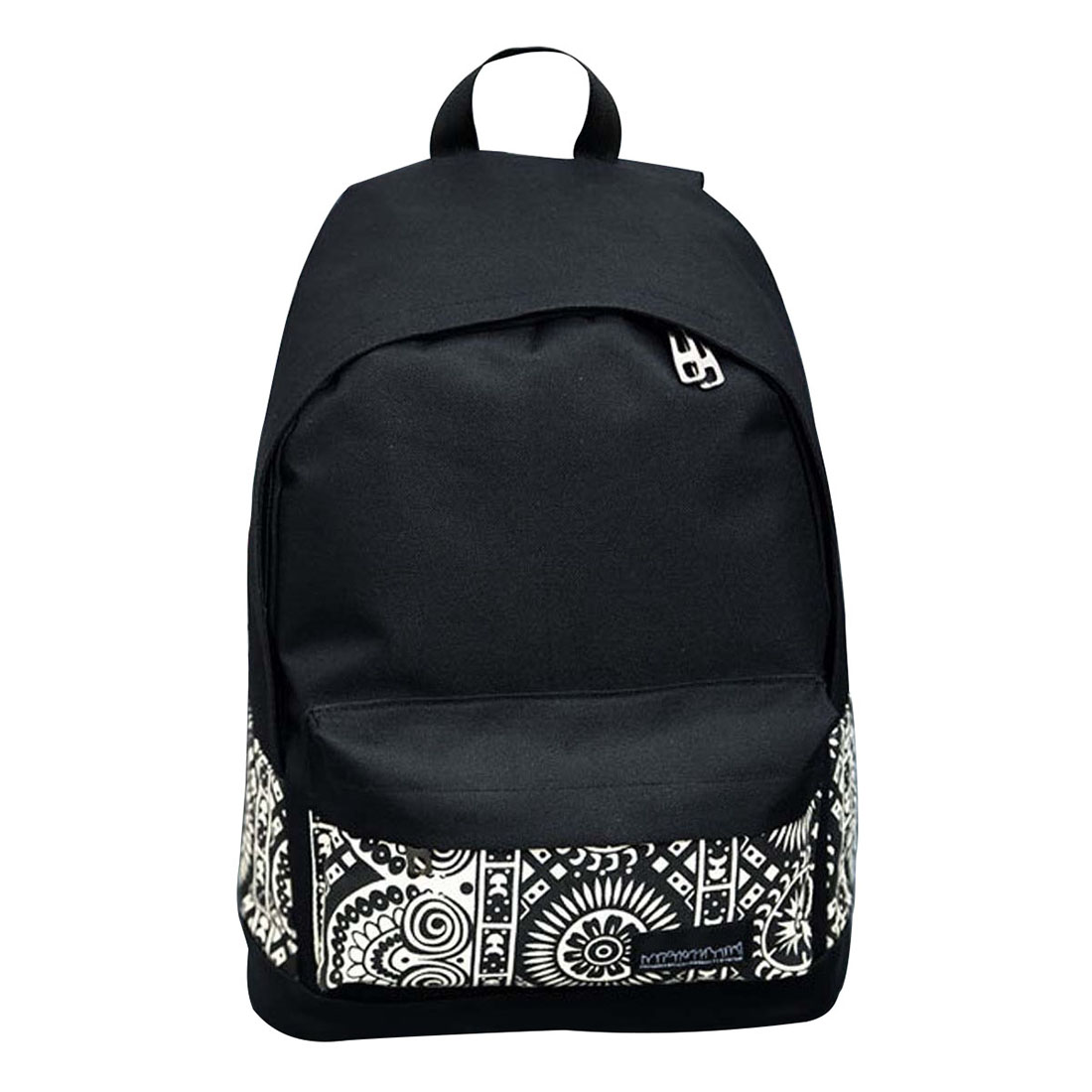 FGGS-Girls Women Canvas School Bag Travel Backpack Satchel Shoulder Bag Rucksack Black 4