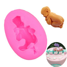 Urijk Sleep Baby Shape Silicone Cake Mold Flexible Baking Mould For Cookie Jelly Chocolate Fondant Cake Tools Cake Decorating(China)
