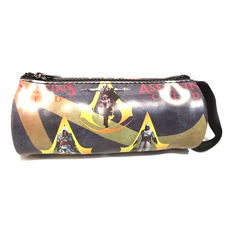 Game Assassins Creed 3 PU Pencil Case Pen Bag Cases Assassins Creed Stationery School Supplies Zipper pencil case Men Wallet