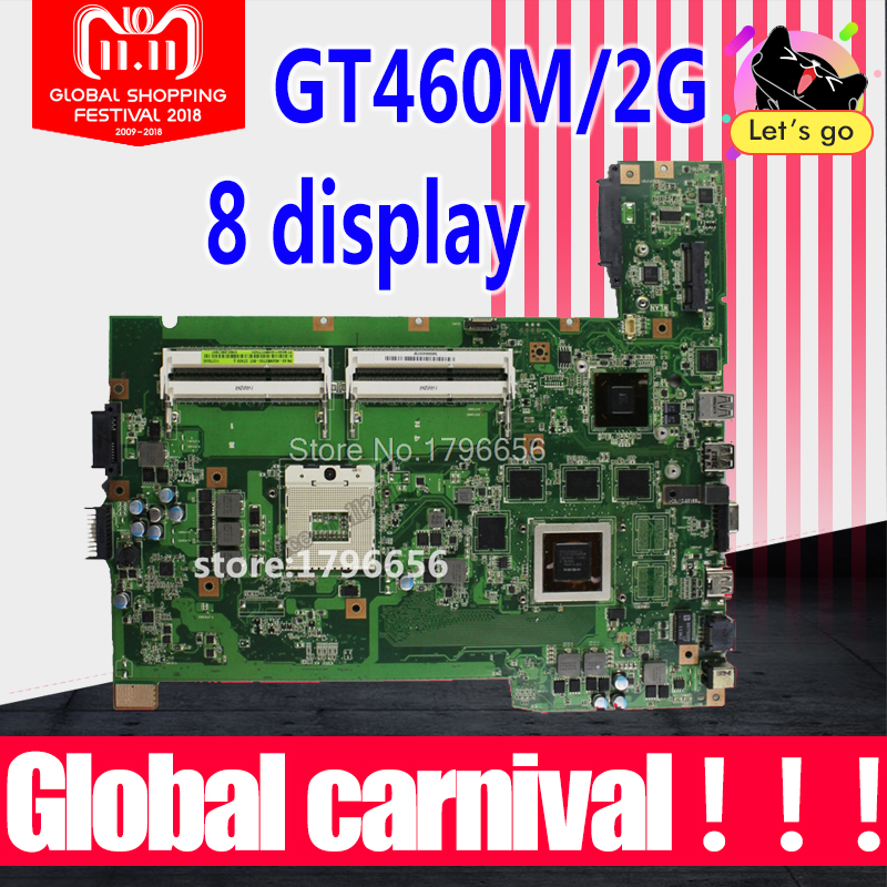 G74SX motherboard for ASUS G74SX GTX460M 2GB support 2D connector 4 memory slots motherboard for laptop цены онлайн
