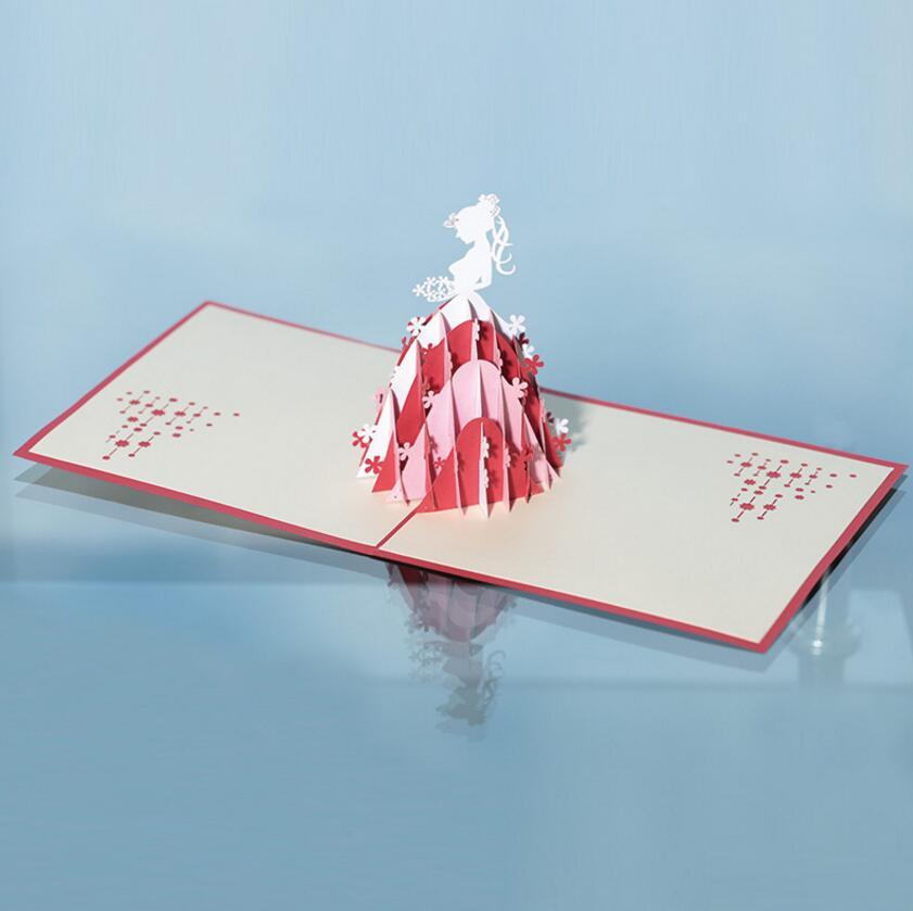 10pcs 3D Creative Princess Handmade Kirigami Origami Wedding Party ...
