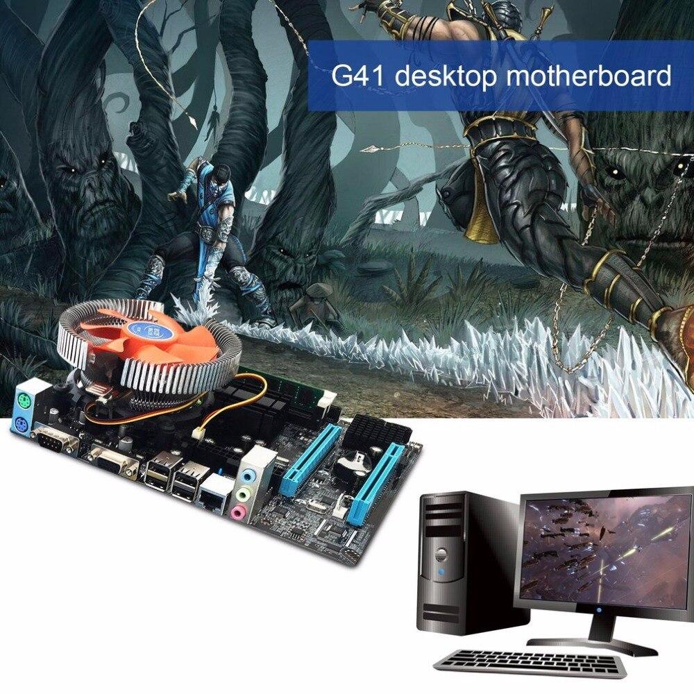 G41 рабочего Материнская плата LGA775 Quad-core E5430 комбинированный 2,66G Процессор + 4G памяти + бесшумный вентилятор компьютер поставок модификации