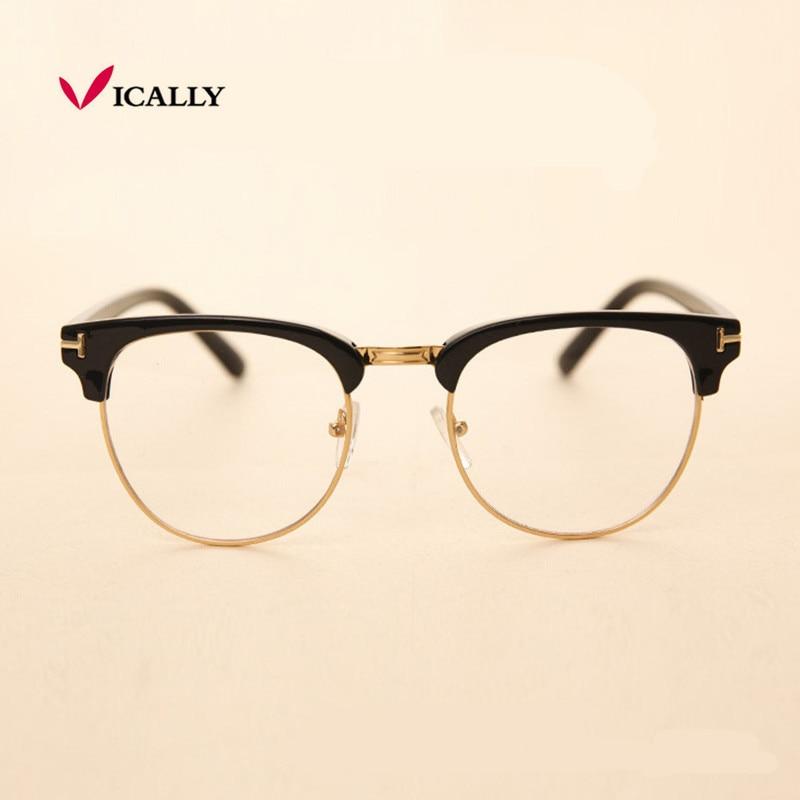 Metal Pola okvira naočale Okvir Retro Moda Žene Muškarci Čitanje Staklo UV zaštita Clear Lens Eyewear Računalo Naočale za oči