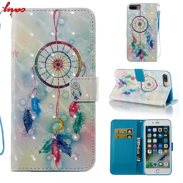 For Coque Apple iphone 7 Cover Cases iPhone7 Case Wallet Leather & Silicone Phone Case For Fundas iphone 7 7G 7S Cases Covers