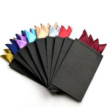 actory Men's Pre-folded Pocket Square Solid Handkerchiefs 20 Colors Formal Wedding Party Business Chest Towel Black White...