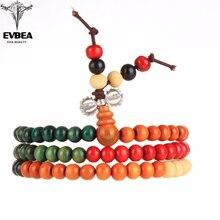 EVBEA Easter Variety of Sandalwood Tibetan Buddhist Prayer Beads Bracelets Buddha Mala Rosary Wooden Charm Bracelet Bangle Jewel