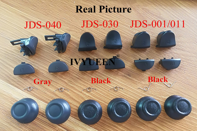 IVYUEEN for Dualshock 4 PS4 PRO Slim Controller L1 R1 L2 R2 Trigger Buttons Analog Stick + Conductive Rubber Button Repair Parts 2