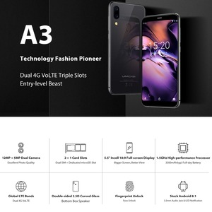 "Image 5 - הגלובלי UMIDIGI A3 5.5 ""HD + זיכרון RAM 2GB ROM 16GB Smartphone Quad Core אנדרואיד 8.1 12MP + 8MP פנים נעילת ה SIM הכפול 4G נייד טלפון מתנה"