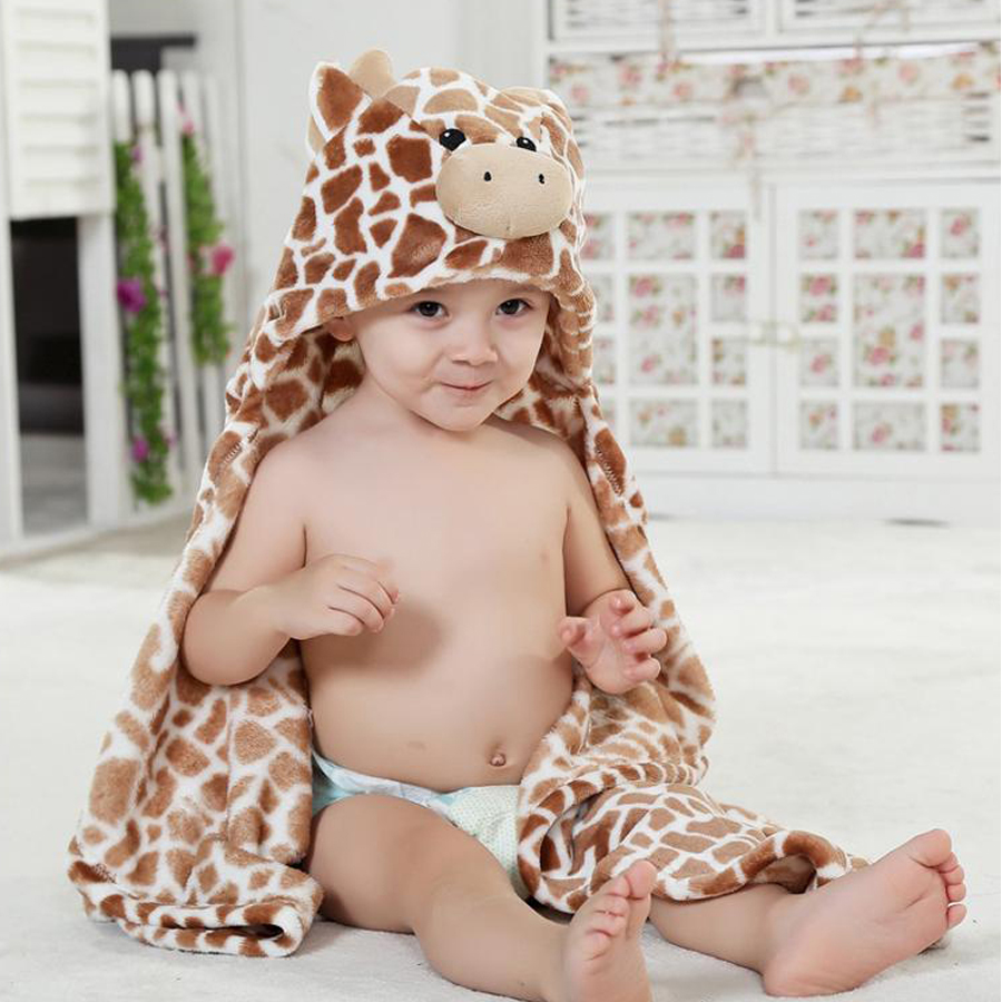 Hooded Animal Baby Blanket Newborn / Baby Bath Towel /baby Bathrobe Cloak Lovely Soft Sleeping Bag Swaddle DS49