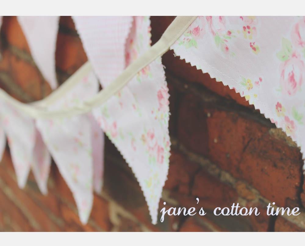 180cm * 2pcs 핑크 패브릭 화환 수제 더블 사이드 패브릭 플래그 번트 배너 화환 웨딩 파티 장식 플래그