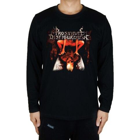 16 дизайнов, футболка для проститутки, секс, убить рок, брендовая футболка, хлопок, панк, фитнес, Hardrock, металл, черный, длинный рукав, рубашки - Цвет: 12