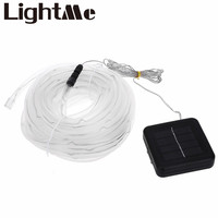 10M 100 LEDs 2W 180LM Solar Powered Rope Tube String Light With Two Lighting Modes For Parties Weddings Special Events