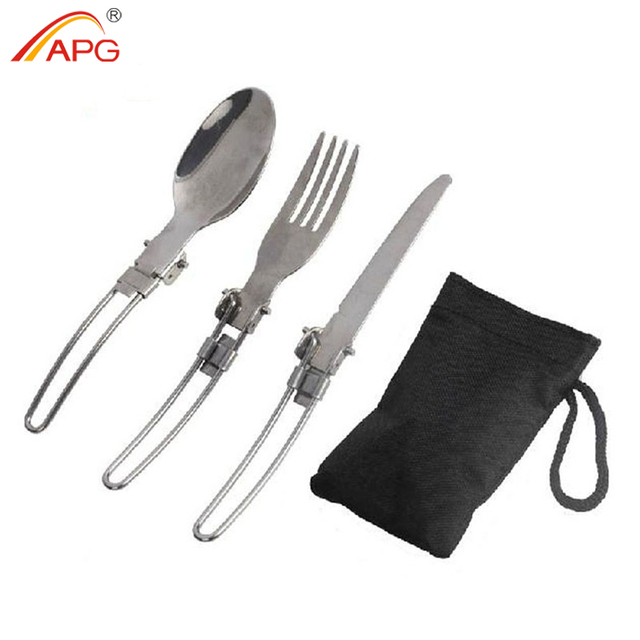 Folding 3 in 1 Outdoor Tableware with Bag