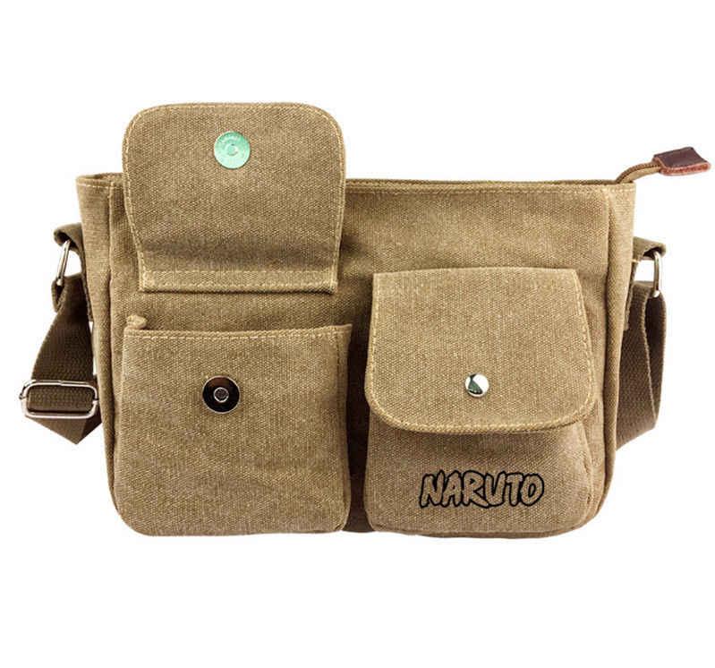 Аниме Наруто сумка-мессенджер Мужская парусиновая сумка через плечо Косплей сумки через плечо Студенческая сумка-портфель школьный кошелек подарок