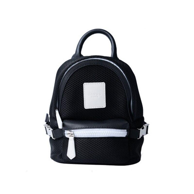 Mini Backpacks For Girl New Style Women Bag 2018 Mesh Black Back Pack  Designer Ladies Shoulder Bag For Girls Mochilas Femininas-in Backpacks from  Luggage ... 0ae9c6ae3bd48