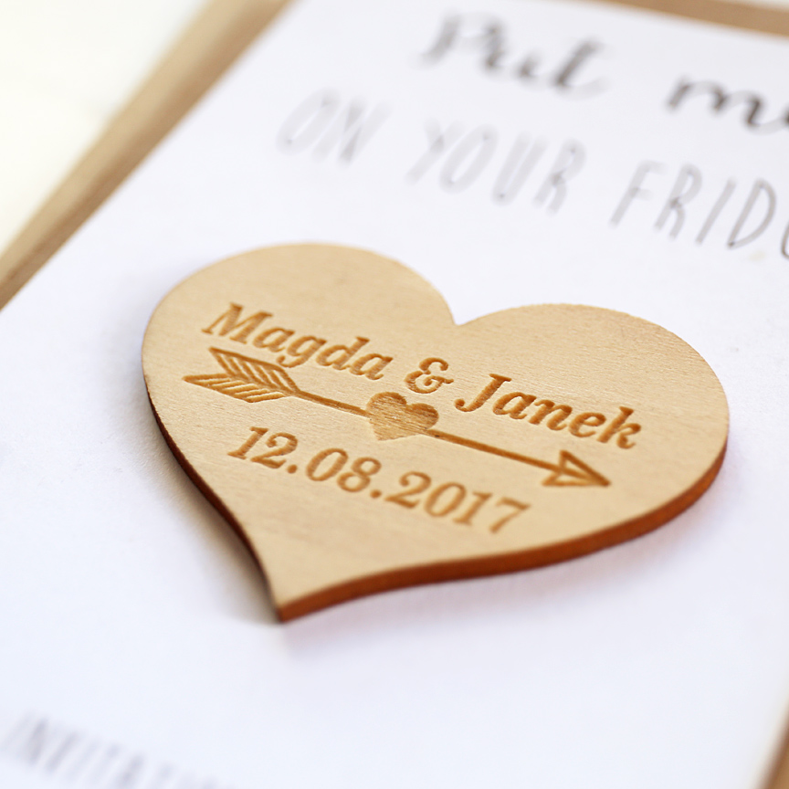 Wedding Gift For Guest: Customized Wood Heart Favors, Wedding Wood Favors, Wedding