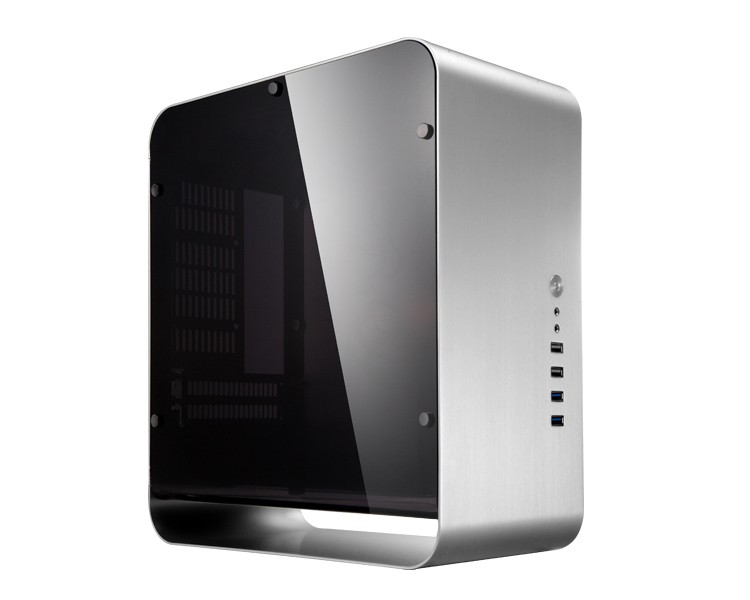 Jonsbo umx1 plus silver aluminum computer case itx case for htpc chassis Картофель фри