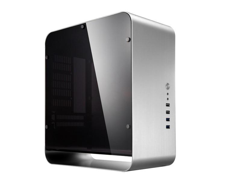 Jonsbo umx1 plus silver aluminum computer case itx case for htpc chassis gadget