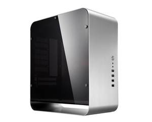 Window Computer case Jonsbo UMX1 PLUS aluminum ITX HTPC chassis  silver side through