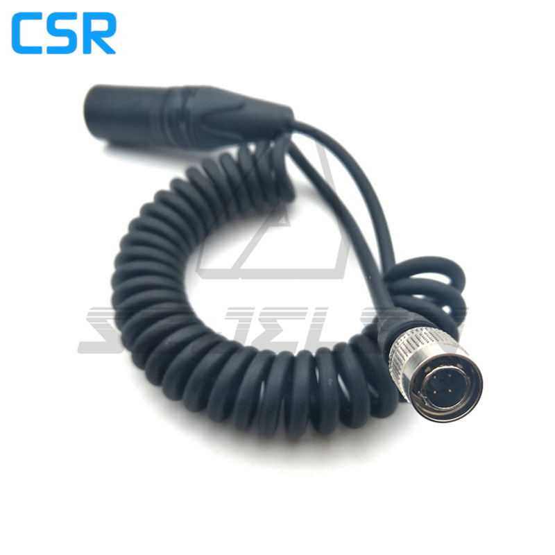 XLR 4PIN to Hirose 4-pin plug connector for Sound Devices 688/664/ ZOOM F8 power line hirose female hr 4pin hr10a 7p 4s connector to anton bauer power d tap sound devices power cables page 5