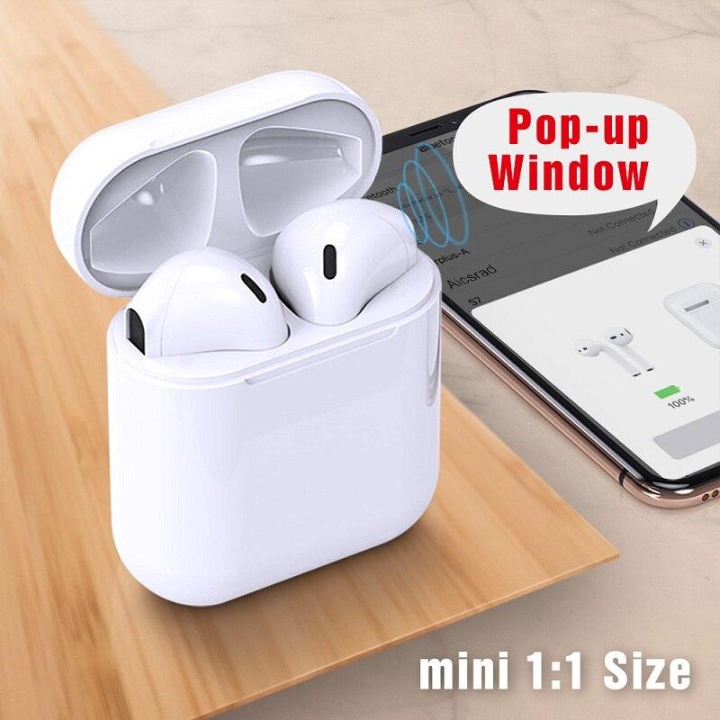 Tws 1:1 réplique Pop-up sans fil Bluetooth écouteur 6d basse écouteurs casque pas W1 puce Pk i20 i30 i60 Tws casque pour iphone