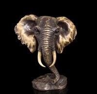 Copper decoration Fine Buddha Brass Modern Sculpture Bronze Statuette Statue Elephant Head Sculpture