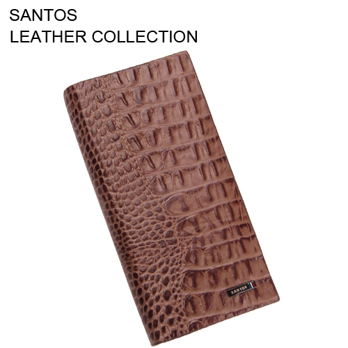 Santos Free Shipping + Crocodile Pattern Leather Wallet +  Luxury Man Wallet + Full Grain Leather Wallet SAQBL006-Z