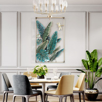 Tropical Plant Wrought Iron Banana Leaf Wall Hanging Decorative 3D Wall Crafts Decoration Home Livingroom Background Mural R2196