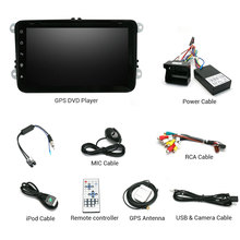 Android 4.4 Car Stereo Radio GPS Navigation DVD Player for VW universal Autoradio RAM 1GB HD Capacitive 3G WiFi 1.6GHz CPU