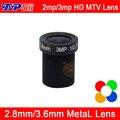 5 шт. Много 3mp/2mp HD Металл MTV Интерфейс 2.8 мм/3.6 мм Объектив Камеры ВИДЕОНАБЛЮДЕНИЯ Бесплатно доставка