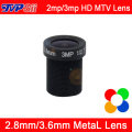 5pcs A Lot 3mp/2mp  HD Metal MTV Interface 2.8mm/3.6mm CCTV Camera Lens Free Shipping