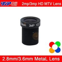 5pcs A Lot 3mp/2mp  HD Metal MTV Interface 2.8mm/3.6mm CCTV Camera Lens Free Shipping