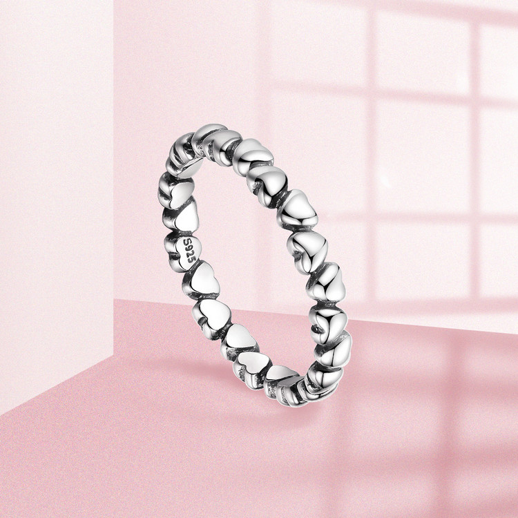 Sterling Silver Heart Design Ring for Women Jewelry Rings Women Jewelry