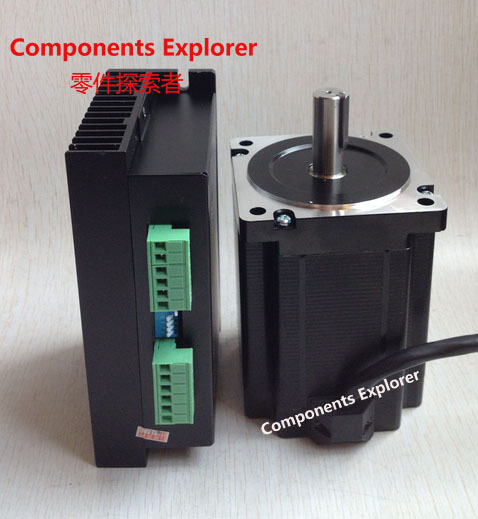 86 Stepper motor kit 86BYG250H nema34 stepper motor 5.6A 12NM length 150mm+MA860H DSP digital driver AC18V-60V DC24V-80V