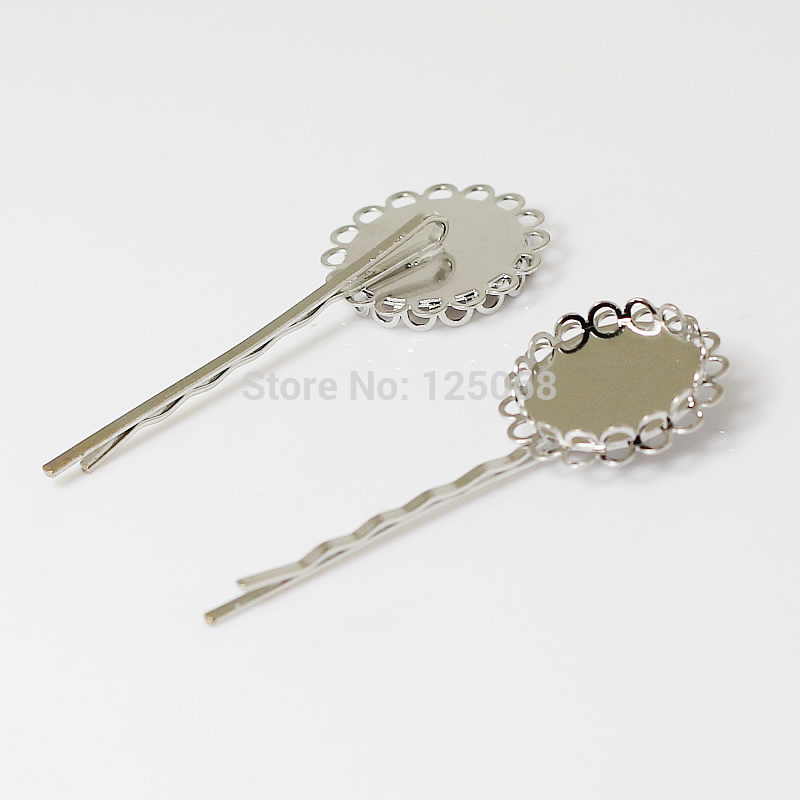 Beadsnice hair pins brass hair clips diameter is 20mm length 55mm wholesale jewelry findings nickel-free lead-safe ID 13371