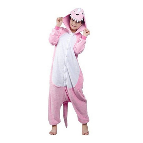 Womens Ladies Mens Adult Unisex Fleece Animal Onesies Novelty Pyjamas Nightwear Costumes Halloween,Pink Dinosaur S