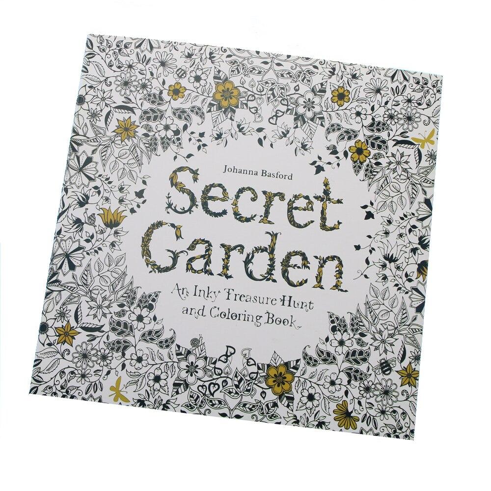 24 Sayfa Gizli Bahçe Ingilizce Edition Için Boyama Kitabı çocuk