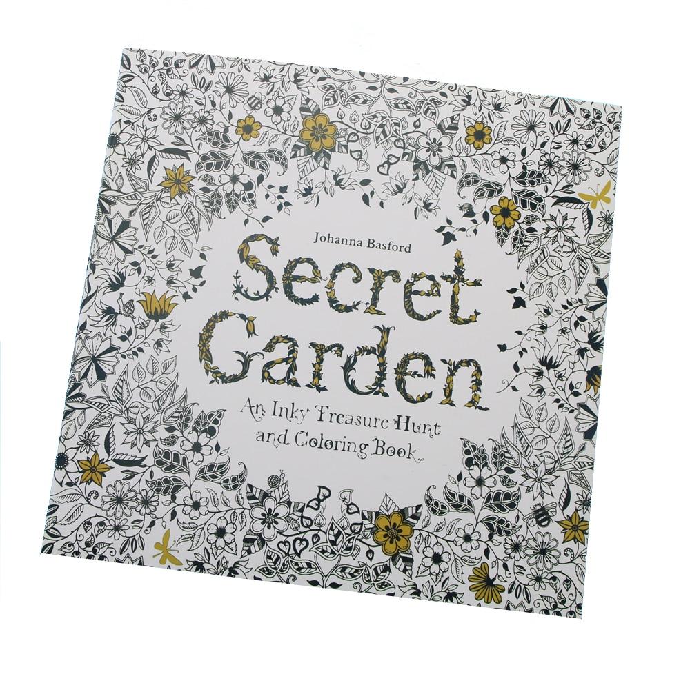 Coloring book untuk dewasa - 24 Halaman Taman Rahasia Edisi Bahasa Inggris Buku Mewarnai Untuk Anak Anak Dewasa Menghilangkan Stres
