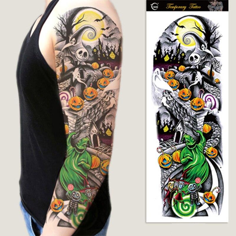 1pc full arm flower tattoos stickers
