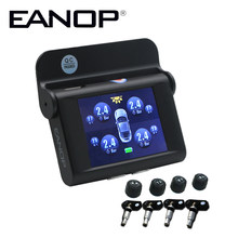EANOP S368 Solar TPMS 2.4 inch Car Tire Pressure Monitoring System 4pcs Internal External Sensors ADAS Alarm For Universal Cars(China)